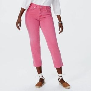 NYDJ Jenna Straight Ankle Jeans With Raw Hem